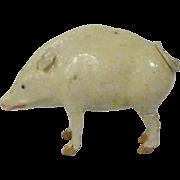 German Papier Mache Putz Pig/Hog With Stick Legs