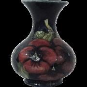 """Moorcoft Pottery Pansy Vase 5 1/4"""""""