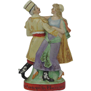 Schafer Vater Figural Advertising Flask Nip