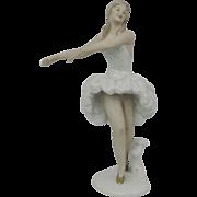 Wallendorf Porcelain Ballerina Figure