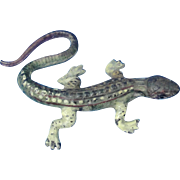 Cast Iron LIzard Salamander Cold Painted