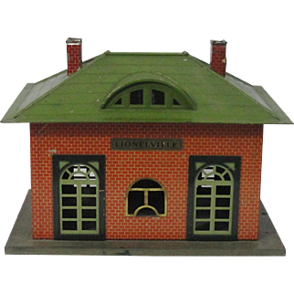 Vintage Tin Litho Lionel Lionelville Train Station