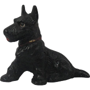 Hubley Cast Iron Scottie Dog Paper Weight