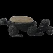 Cast Iron Poodle Dog Bobble Head Pin Cushion