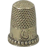 14K Gold Chased Thimble Size 8