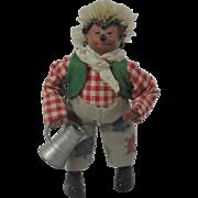"Miniature ""Mackey"" Steiff Hedgehog Gardener With Watering Can"
