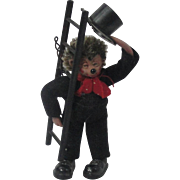 "Miniature ""Macky"" Steiff Hedgehog Chimney Sweep"