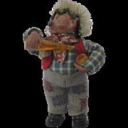 "Miniature ""Mackey"" Steiff Hedgehog Bar Tender With Bottle"