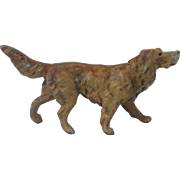 Vintage Cold Painted Spelter Retriever Setter Dog Germany