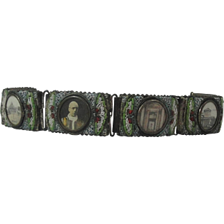 Mosaic Bracelet With 6 Scenes From Rome