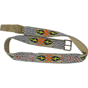 Native American Beaded Belt with Alaska Spelled Out In Beads