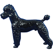 Goebel West Germany Poodle Dog Black