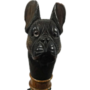 Black Forrest French Bull Dog With Glass Eyes, Mechanical Glove Holder & Umbrella