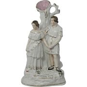 """19th Century Stafforshire Spill Vase """"A Winters Tale"""""""