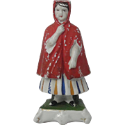 Prattware Red Riding Hood Figure