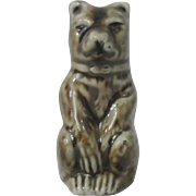 Staffordshire Figural  Bear Whistle (Whistle Does Not Work)