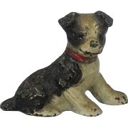 Vintage Hiubley Cast Iron Boston Terrier Place Card Holder