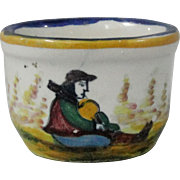 Vintage Quimper Salt Miniature Pot 1943 Marked