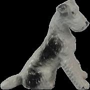 Vintage Metal Fox Terrier Dog Miniature