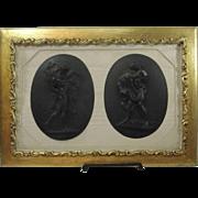 Antique Wedgwood Black Basalt Plaque
