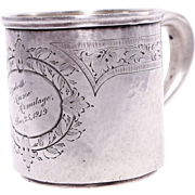 Antique Sterling Silver Child's Cup, Baltimore Silversmiths - Dated Christmas Dec. 25, 1919