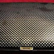 French Niello Alpacca Cigarette Case Dated 1-14-27