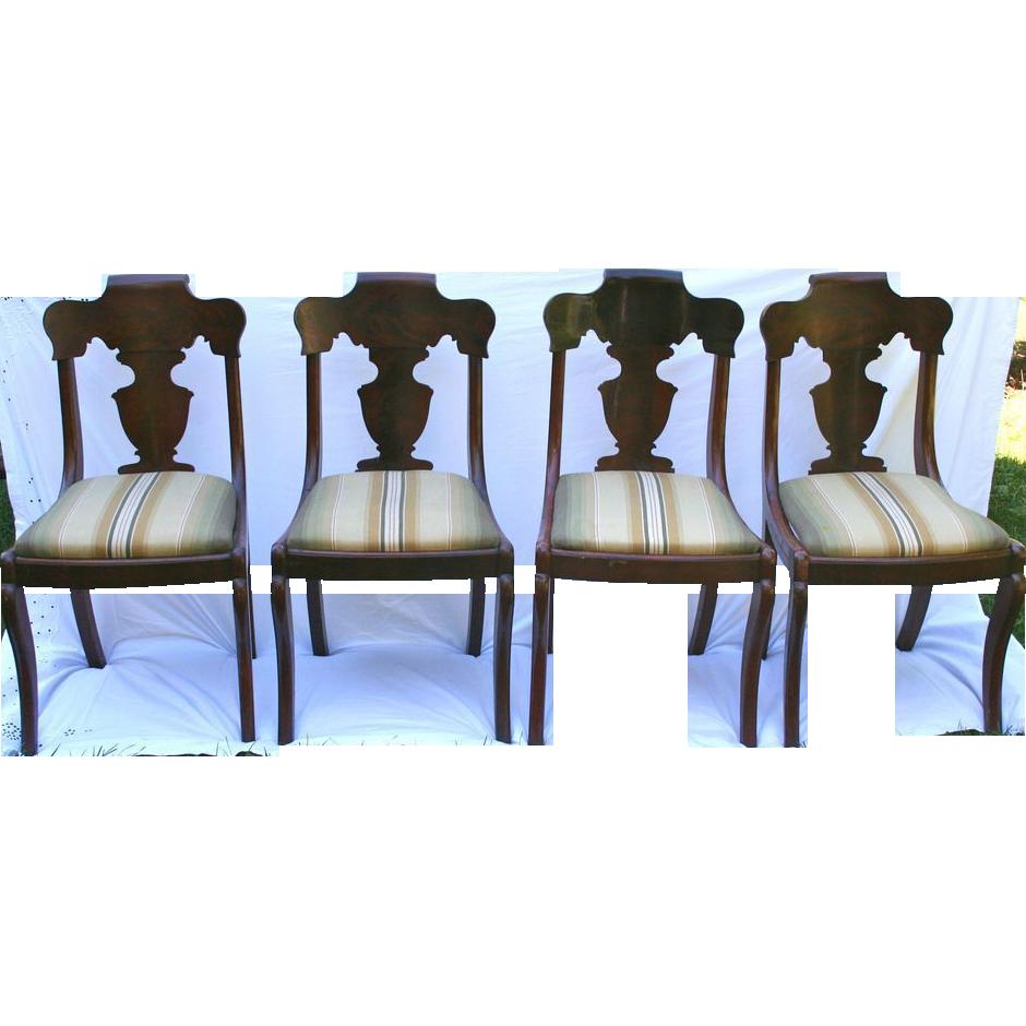 Amazing Set Of Victorian Dark Mahogany Chairs Paine Furniture Co. Boston
