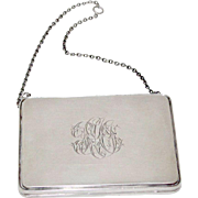 Sterling Silver Hallmarked WGS & Co.Birmingham Chatelaine Evening Purse