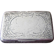 Beautiful Heavy Antique Sterling Repousse Box with Gold Wash Inside