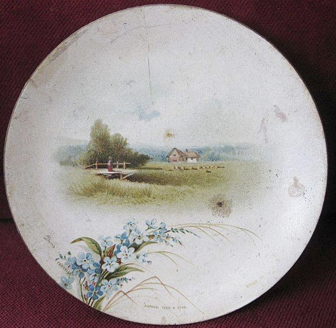 Raphael Tuck Christmas Gift Signed Dec. 25, 1886 Victorian Miniature Paper Plate