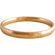 Gold-Filled Victorian Child's Hallmarked Bangle Bracelet