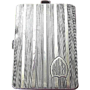 Sterling Silver Elgin Art Deco Evening Case Circa 1920's
