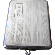 Art Deco 1920's Sterling Silver Match Holder Elgin AM Mfg. Co.
