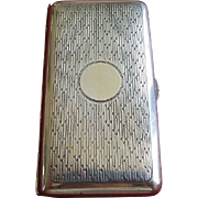 Sterling Silver 1920's Art Deco Hallmarked Evening Cigarette Box Case