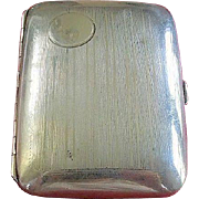 Sterling Silver 1920's Art Deco Elgin Evening Cigarette Box Case