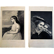 Pair of 19th Century Engravings - Clarinel and Something of A Flirt -