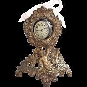 Victorian Cherub Gilt Iron Pocketwatch Holder Circa 1875