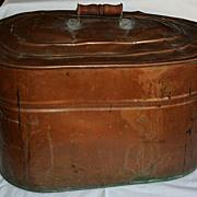 19th Century Antique American Primitive Copper Boiler