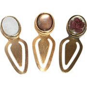 Set of Three Fabulous Vintage Oval Bookmarks