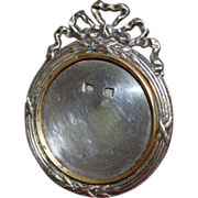 French Antique Mini Round Picture Frame
