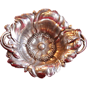 Fabulous Antique Sterling Silver 'Wildrose' Art Nouveau Dish