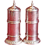 Pair of Sterling Turn of the Century Hallmarked Salt and Pepper Shakers