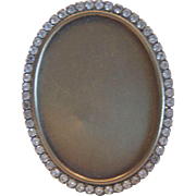 Vintage Miniature Crystal Oval Picture Frame