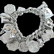 Fabulous Vintage Charm Bracelet 1960's