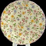 Vintage Japanese Floral Serving Plate