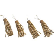Set of Four Victorian 19th Century Bronze Metal Tassels