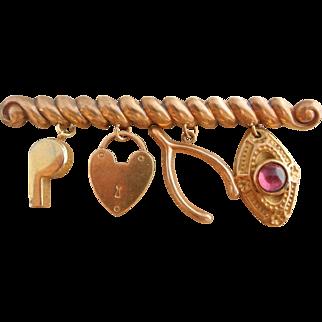 Vintage Charm Brooch Pin