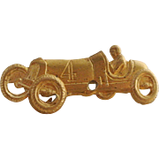Vintage Brass Racing Car Pin