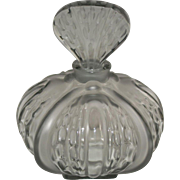 Vintage Rene Lalique Mirabel Grey Frosted Perfume Bottle