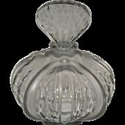 Vintage Rene Lalique Mirabel Grey Frosted Perfume Bottle